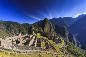 Stunning view of Machu Picchu archeological site in Cuzco Cuzco province, Peru.